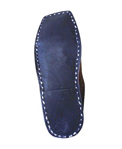 kalra Creations hommes Chaussures de chausson en cuir traditionnel Indien ethnique pour Marron