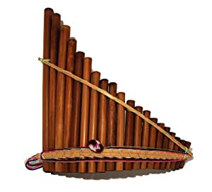 Panpipes, rondador, curved 20 pipes, fair trade