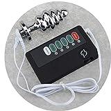 NYTYU Butt Six Plug 8.8 * 3.5cm Filo impulsivo B ^ u * TT Plug Scossa elettrica Metallo Inossidabile Anàlē Spina Six-Toys