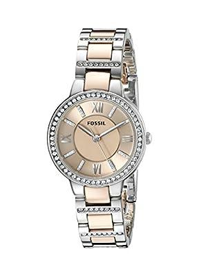 Fossil ES3405P - Reloj (Reloj de pulsera, Femenino, Acero inoxidable, Plata, Acero inoxidable, Oro, Plata) de FOX84