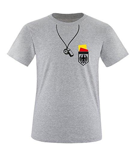Luckja EM 2016 Deutschland Trainer Fanshirt Herren Rundhals T-Shirt Grau/Bunt