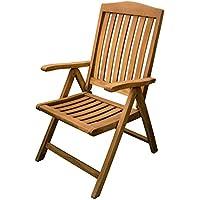Sedie In Legno Giardino.Amazon It Teak Sedie Pieghevoli Sedie Giardino E Giardinaggio