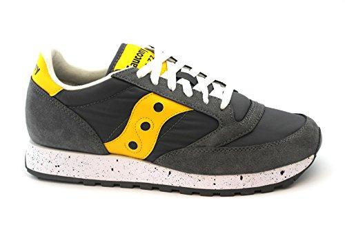 Saucony scarpe sneaker uomo jazz original s2044-417 grigio giallo 42.5