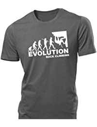 iClobber Rock Climbing Evolution Men's T Shirt tshirt hook grapple abseil climb