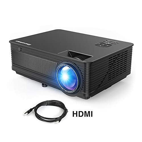 "Proyector LED 1080P Full HD Excelvan M5 2018 Actualizado 3500 Lumenes 200"" Mini Proyector con HDMI para iPhone / Android / PS / PC / TV Box Mini Proyector Cine en Casa Ideal para Movil"