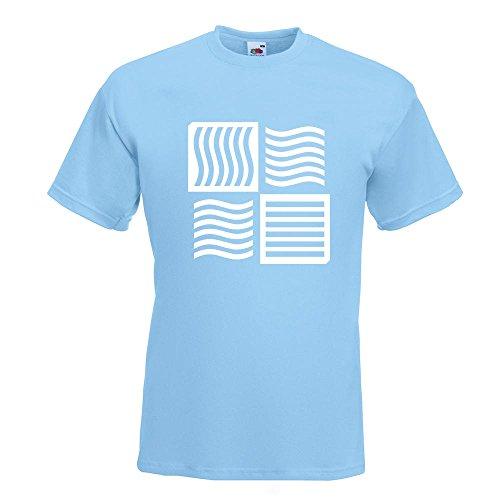 KIWISTAR - The Fifth Element logo T-Shirt in 15 verschiedenen Farben - Herren Funshirt bedruckt Design Sprüche Spruch Motive Oberteil Baumwolle Print Größe S M L XL XXL Himmelblau