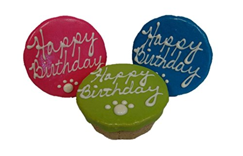 Preppy Puppy, Dog Green Happy Birthday Cake. Wheat, Corn & Soy Free, Rolled Oats and Peanut Butter dog celebrate treat
