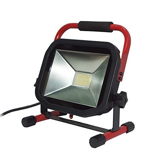 LUCECO LSW30BR2-E2 Ultraflacher LED Baustrahler 38W mit Ständer, 3000lm, 5000K, IP65-geschützt, Energieeffizienzklasse A+, 38 W, 240 V -