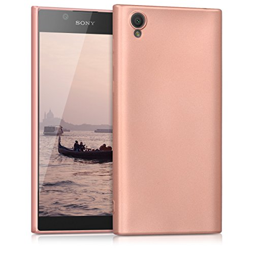 kwmobile Sony Xperia L1 Hülle - Handyhülle für Sony Xperia L1 - Handy Case in Metallic Rosegold