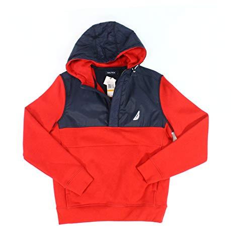 Nautica Navy Mens Small 1/2 Zip Colorblocked Sweater Red S Colorblocked Zip