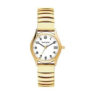 Wrist watch for women 'Pierre Lannier' golden stretch tight.