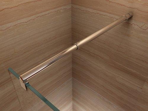 Satinierte Walk In Dusche, 10mm STARK, Duschabtrennung aus ESG Sicherheitsglas mit NANObeschichtung #840 (110cm x 200cm) - 5