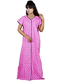 CLYMAAÃ' Cotton Full Front Open Nighty Patient Nighty Nursing Nighty  Feeding Nighty Length fit up 996dfbaea