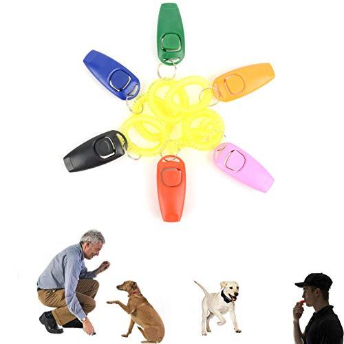 Ranphy Hundepfeife, 2 in 1, mit Handgelenkschlaufe, Haustier-Traniner, klick-Schlüsselring, Gehorsamkeit, Beweglichkeitstraining, für Hunde, Katzen, Pferde, Welpen, um Bellen zu stoppen