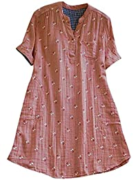 4f000d922bf Mini Robe Femmes Plage,Binggong Casual à la Mode Robe Manche Court Col Ronde  Taille