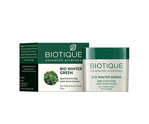 Biotique Bio Winter Green Spot Correcting Anti Acne Cream, 15g