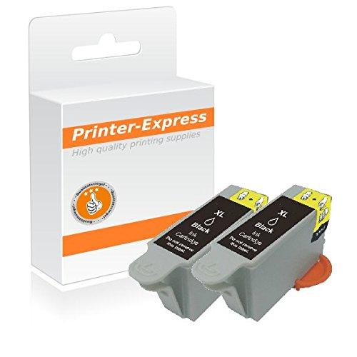 Preisvergleich Produktbild Printer-Express XL Druckerpatronen 2er Set Schwarz 860 Seiten ersetzt Samsung INK-M210, INK-M210/ELS, INKM210, INK-M215, INK-M215/ELS, INKM215 mit neuem Chip 100% funktionsfähige Tintefüllstandsanzeige für Samsung CJX-1000 CJX-1050 CJX-1050W CJX-2000 CJX-2000FW / CJX1000 CJX1050 CJX1050W CJX2000 CJX2000FW Drucker
