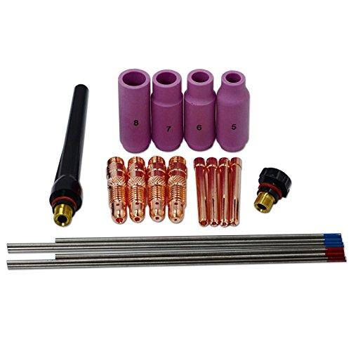 TIG KIT collet corps et electrode tungstene Pour PTA DB WP 17 18 26 torche TIG 22pcs