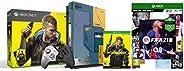 Xbox One X Cyberpunk 2077 Limited Edition Bundle (1TB)&FIFA 21 Standard Edition (Xbox