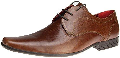Red tape Kingston formelles en cuir à lacets Bout pointu Chaussures de bureau - Marron