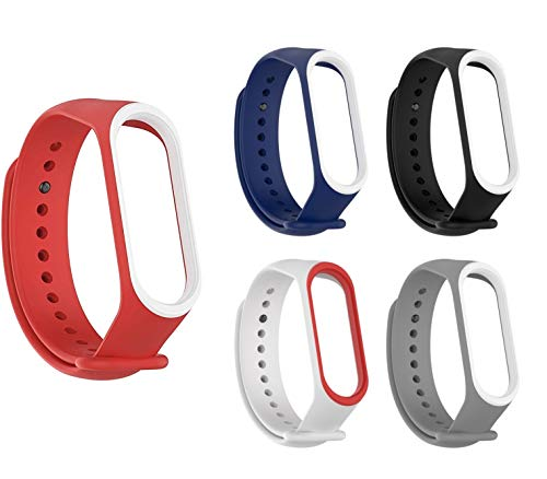 Rapidotzz Pack of 5 Straps/Belts/Bands Compatible for Xiaomi MI Band 3   Mi3