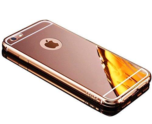 Cover per iPhone 7 , Sunroyal Ultrasottile Acrilico Copertura Di Caso Protezione Bling Posteriore Custodia Struttura Metallica Fusion Mirror in Alluminio Protettiva Case Cassa per Apple iphone 7 (4.7 Pattern 01
