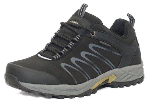 Alpinecrown CROSS TRAIL Scarpe da escursionismo Scarpe da trekking Scarpe da montagna Mountain Shoe genere neutro uomo, Nero, EU 40