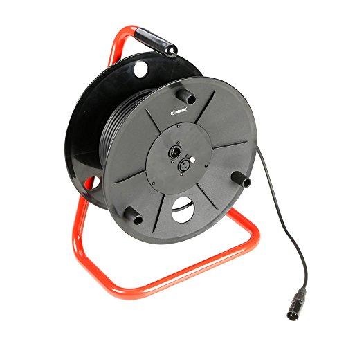 ah Cables K3CDDMX3030 Adam Hall Kabel 3 Star Serie (Kabeltrommel, 3-polig DMX/AES, 30 m) schwarz