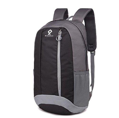 LJ&L Outdoor Sport Freizeit Wandern Tasche, tragbar und atmungsaktiv, 20L Kapazität verstellbaren Rucksack Black