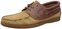Woodland Mens Camel Leather Boat Shoes - 6 UK/India (40 EU)