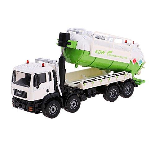 D DOLITY 1:50 Escala Modelo de Vehículo Realista en Miniatura Camión de Transporte de Residuos Basura Juguete Infantil Imaginativo - Verde