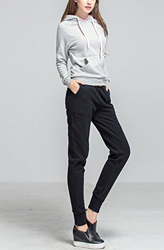 Pantaloni da donna, Pantaloni sportivi da donna Pantaloni sportivi Pantaloni della tuta Nero più velluto