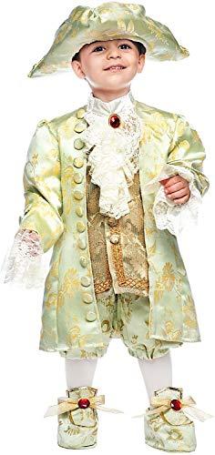 Carnevale Venizano CAV50718-2 - Kleinkindkostüm Casanova NEONATO - Alter: 0-3 Jahre - Größe: 2 (Carnevale Kostüm Neonato)