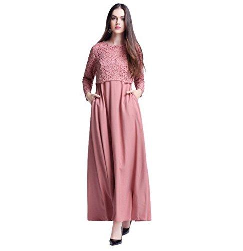 Dreamskull Muslim Abaya Dubai Kleid Muslimisch Islamisch Arabisch Abendkleid Kaftan Kleidung Maxikleid Spitze Damen Frauen Indien Casual Abendmode(M, (Für Kostüme Arabische Saudi Frauen)