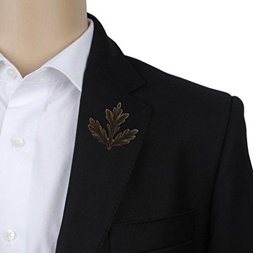 His Honour Metal Lapel Pin, Brass, Leaf Brooch