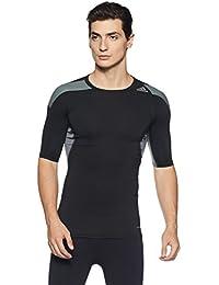 sale retailer 3c321 390ef adidas, Maglietta di Compressione Uomo Techfit Cool, Nero (BlackVista Grey  S15