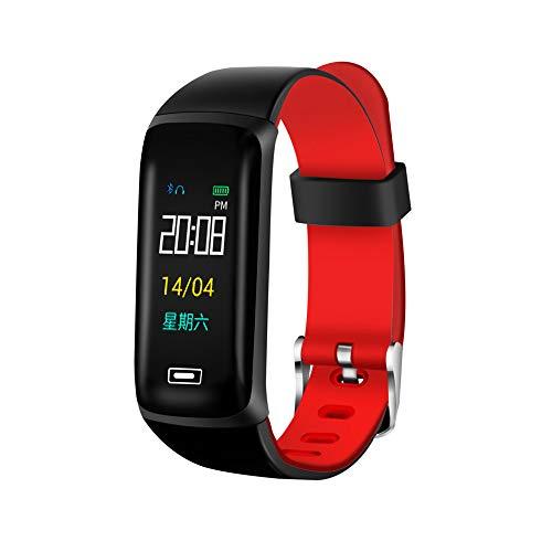 Jiameng smartwatches - orologio da polso intelligente del pedometro dell'inseguitore di attività di forma fisica di sport di sonno della banda da polso smart watch rosso