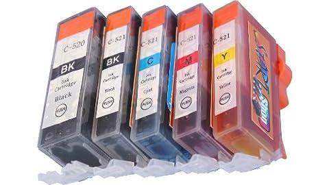 Canon A 520 - Start - 5 Cartouches d'encre compatibles avec