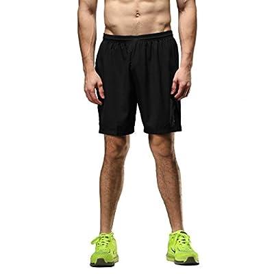 SEEU Running Shorts Men 2 in 1 Shorts Mens Training Shorts with Zip Pocket Black / Blue