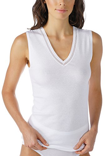Mey Basics 2000 Damen Tops breiter Träger 26307 Weiß