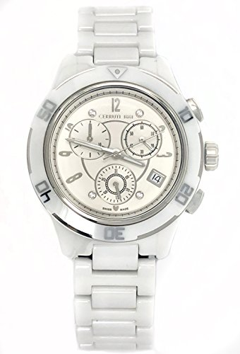Cerruti 1881 Ceramic Chronograph Watch White