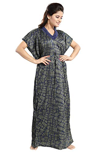 927429d266 TUCUTE Women s Girls Checks Print Kaftan Style Nighty Night Gown Nightwear    Sleepwear.