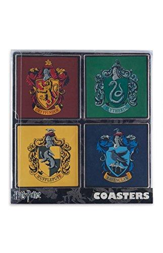 Regalo di natale Primark ufficiale Harry Potter Serpeverde gryfindor Confezione di 4sottobicchieri