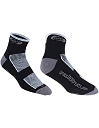 BBB Technofeet BSO-01 Calcetines deportivos, Hombre, Negro / Blanco, 43-46