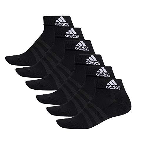 adidas 6 Paar Performance Sneaker/Quarter Socken Unisex Kurzsocke, Farbe:Black, Socken & Strümpfe:43-45 -