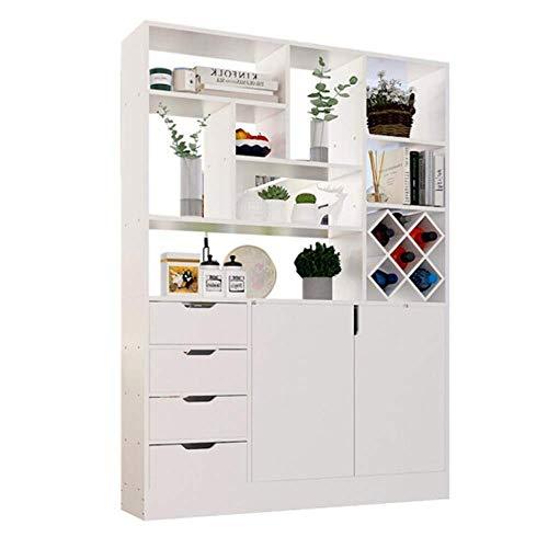 DiaoZhaTian Multifunktionale schuhschrank/weinschrank/schließfach, Hause Wohnzimmer bar modernen minimalistischen modeschrank. Weiß 120 * 180cm