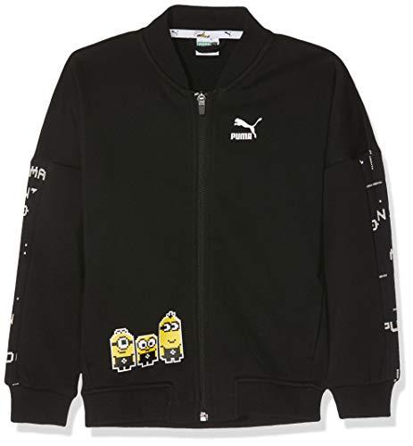 Puma Jungen Minions Bomber Sweatshirt, Cotton Black, 164