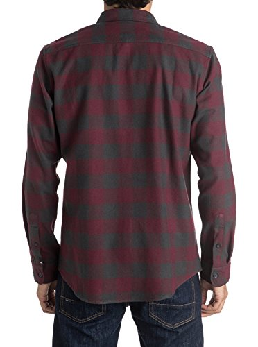 Quiksilver Motherfly Flannel Chemise Homme Rouge (motherfly Tarmac Kta1)