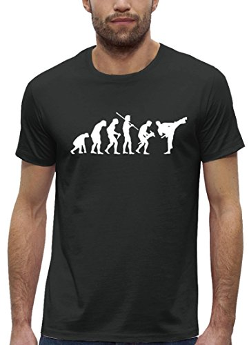 Kampfsport Premium Herren T-Shirt aus Bio Baumwolle EVOLUTION JUDO Marke Stanley Stella Anthrazite