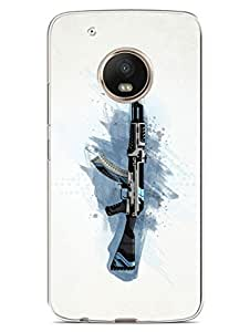 Moto G5 Plus Cover - CounterStrike - AK47 - Rifle - 2D Glossy Hard Back Shell Case